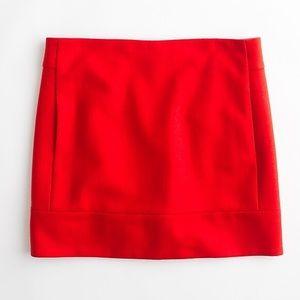 [J. Crew] Double Serge Pencil Mini Skirt